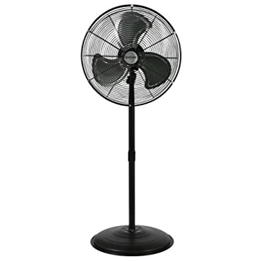 Hurricane Stand Fan - 20 Inch   Pro Series   High Velocity   Heavy Duty Metal Stand Fan for Industrial, Commercial, Residential, and Greenhouse Use - ETL Listed, Black