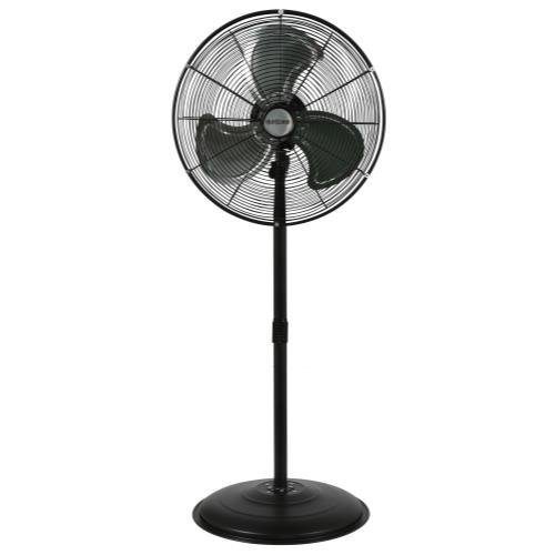 Oscillating Pedestal Fan Industrial Grade - Hurricane Stand Fan - 20 Inch | Pro Series | High Velocity | Heavy Duty Metal Stand Fan for Industrial, Commercial, Residential, and Greenhouse Use - ETL Listed, Black