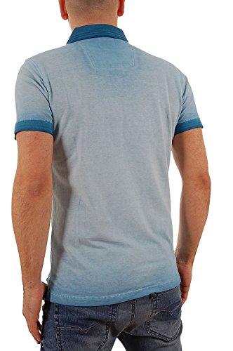 PME LEGEND Herren Poloshirt Shirt Polohemd Polo PPSS62510 M aquablau