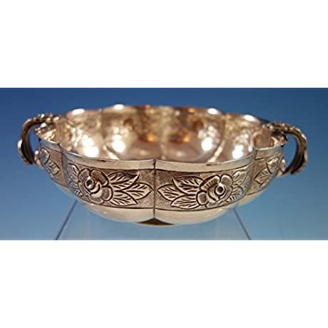 Aztec Rose By Sanborns Sterling Silver Bowl With Applied Rose Handles 1883