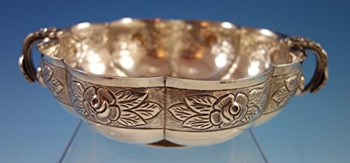 Aztec Rose by Sanborns Sterling Silver Bowl with Applied Rose Handles (#1883) -