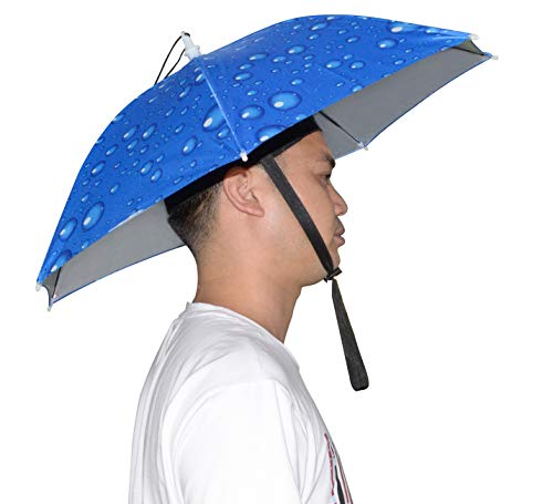 NEW-Vi Umbrella Hat Adult and Kids Folding Cap for Beach Fishing Golf Party -