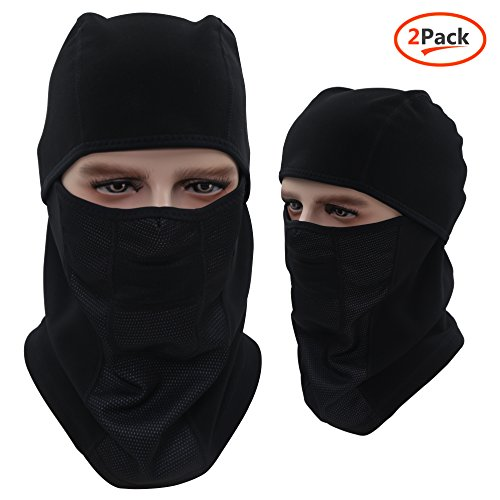 Tactical Balaclava Hood, Skiing Face Mask, Windproof / Breathable / Heavyweight/ Multi Purpose Black Winter Motorcycle Bike Bicycle Helmet Cycling Mask for Kids Women Ladies Men by Dseap.2 (Faces To Paint On Pumpkins At Halloween)