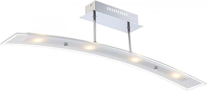 20 Watt LED Deckenlampe Beleuchtung Lampe Chrom Leuchte Büro