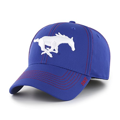 NCAA SMU Mustangs Adult Start Line Ots Center Stretch Fit Hat, Large/X-Large, Royal