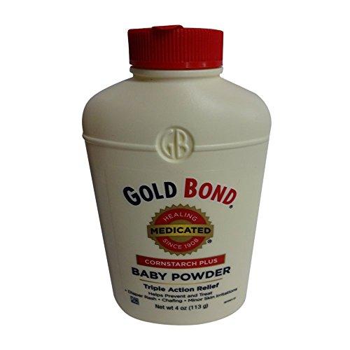 Gold Bond Cornstarch Plus Baby Powder 4 oz (Pack of 3)