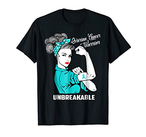 - Ovarian Cancer Warrior Unbreakable T-Shirt Awareness Gift