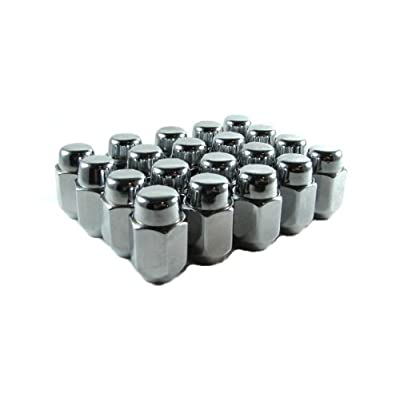 "EZAccessory 24 Chrome Acorn Lug Nuts 7/16"" Thread Size 13/16\"" Hex: Automotive [5Bkhe0114288]"