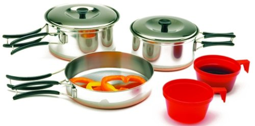 Texsport Stainless Steel 2-Person Cook Set, Outdoor Stuffs
