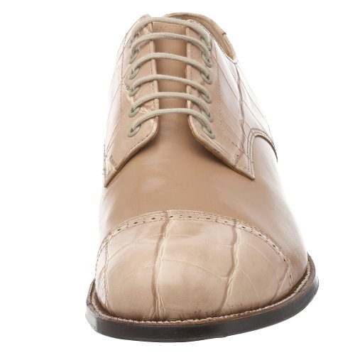 Stacy Adams Mens Madison Croco Cap-toe Oxford Taupe - 042