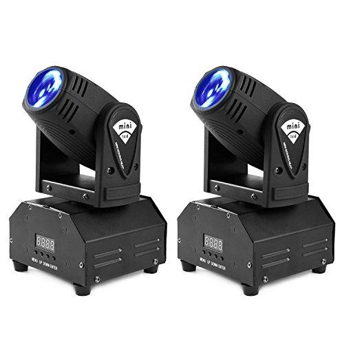 MFL 10w LED Moving Head Light RGBW Stage Light Mini Moving Beams for DJ Party Disco KTV Nightclub Lives 2 pcs by MFL.