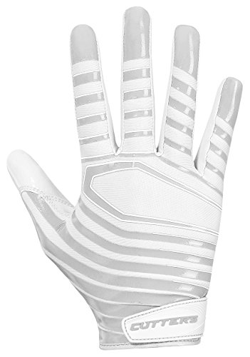 Cutters Gloves S252 Rev 3.0 Receiver Gloves, White, Large