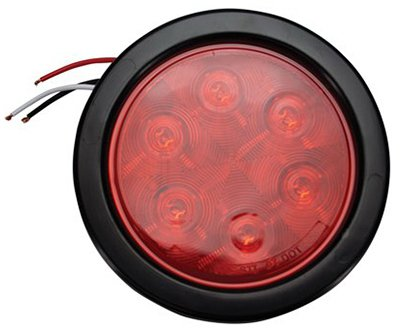 Uriah Products UL417201 Round LED Stop//Turn//Tail Light Kit with Rubber Grommet