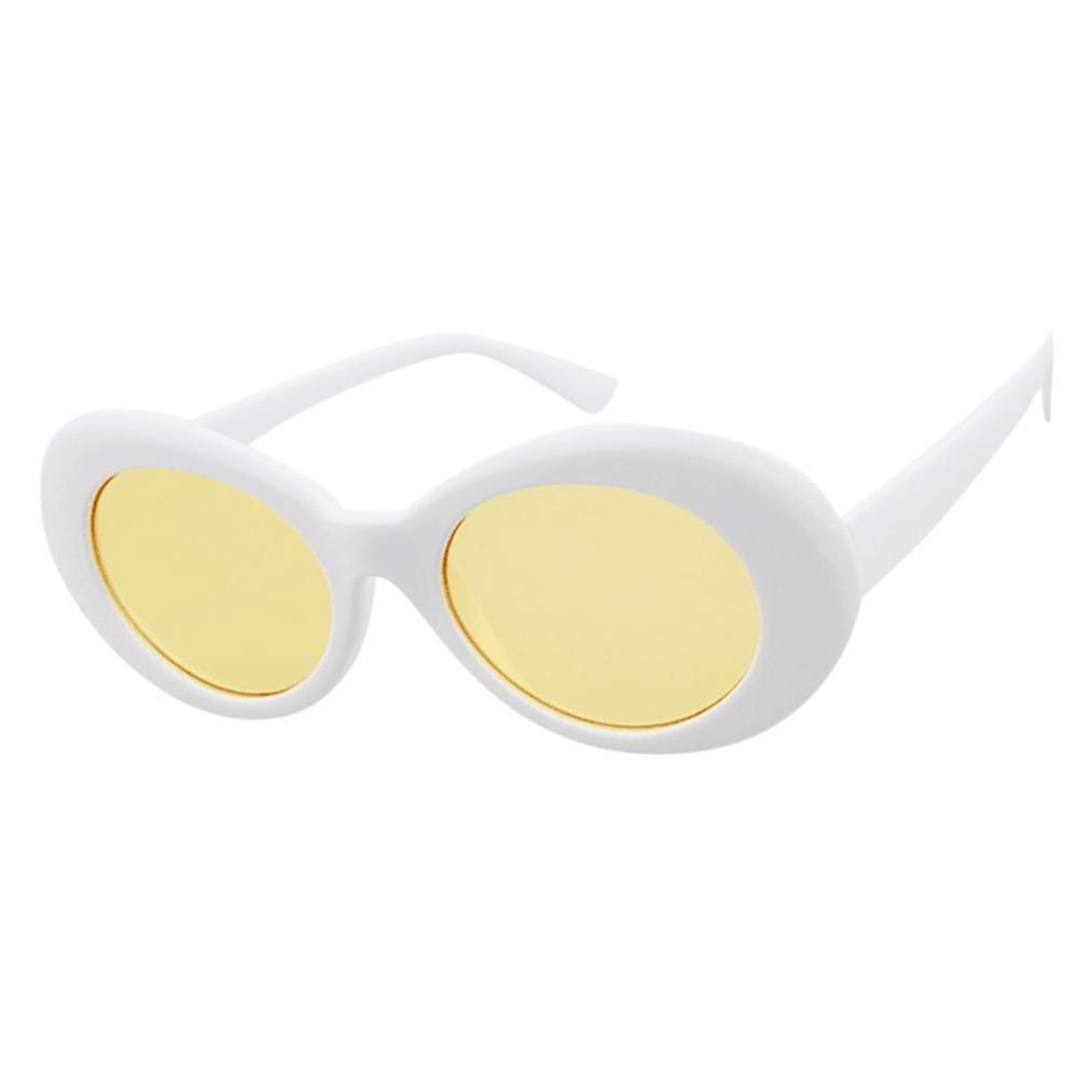 JoyJay Retro Vintage Clout Goggles Unisex Sunglasses Rapper Oval Shades Grunge Glasses