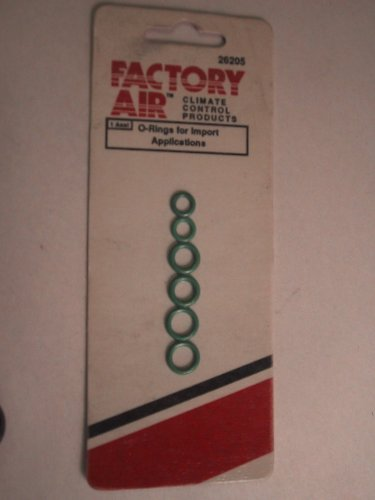 Factory Air O-rings for Import Applications 5mm, 6mm & 7mm 26205
