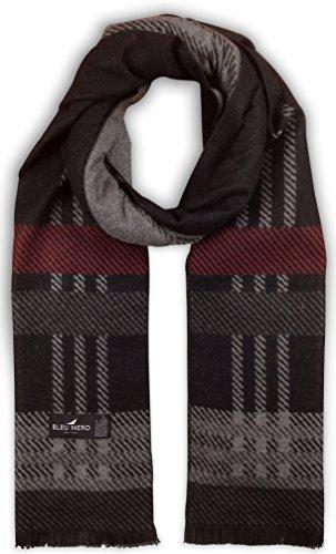 Bleu Nero Luxurious Winter Scarf for Men and Women – Large Selection of Unique Design Scarves – Super Soft Premium Cashmere Feel (Black/Grey/Burgundy Plaid) by Livativ