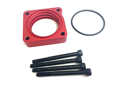 Red Power Flow Billet Throttle Body Spacer Fit 12-15 Honda Civic SI 2.4L -