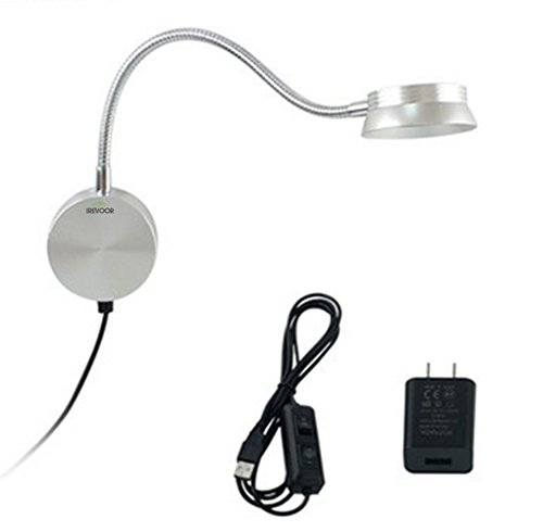 Wall Lamp With Usb : Bedroom Reading Light ,IreVoor 6W Bedroom LED Headboard Wall Lamp Sconce Lamp Lighting USB With ...