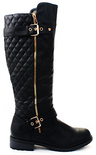 Black Motorcycle Riding Boots - 8