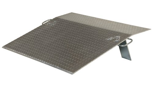Vestil E-3624 Aluminum Economizer Dock Plate, 3,600-lb. Capacity, 24'' Length, 36'' Usable Width, 3'' Height Difference, 3/8'' Plate Thickness by Vestil