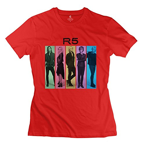 Price comparison product image XY-TEE Women's Crew Neck Tee R5 Louder Members Red Size XS