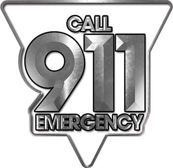 Amazon com: REFLECTIVE Call 911 Emergency Police EMS Fire