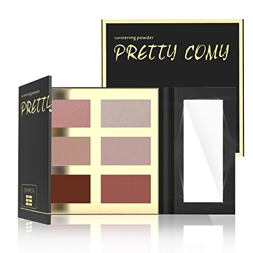 Palette Shimmer and Matte Waterproof Durable Highlighter Powder Makeup Palette By Pretty Comy (Durable Palette)