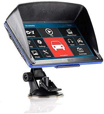 NBVNBV Android Pantalla Táctil Radio de Coche GPS Navegador Sistema Multimedia Mapa Gratis Cámara Trasera 256M+8GB,BT with Wired CAM: Amazon.es: Deportes y aire libre