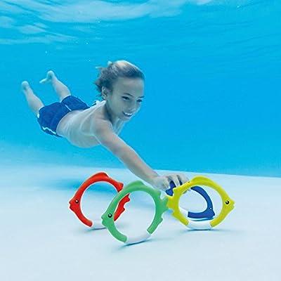 Intex 4PC UnderWTR Fun Ring: Toys & Games