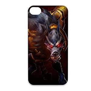 Warwick-001 League of Legends LoL case cover for Apple iPhone 4 / 4S - Plastic White