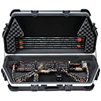 SKB Universal Parallel Limb Bow Case. 39.00 L x 18.00 W x 7.50 D. Accommodates most bows w/ quivers, sights, stabilizers.