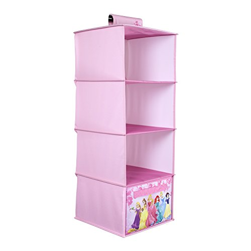 Princess Organizer - Everything Mary Forever Princess Hanging Closet Organizer | 4 Shelves Clothing Organizer for Closet and Bedroom Storage | Disney Towel Accessory Storage, Collapsible Hanging Organizer ...