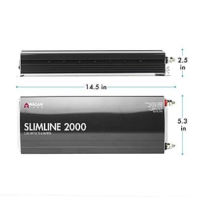 Wagan EL3724 2000W Slim Line 4500W Surge Peak, 12 Volt DC Input Power Inverter, Black: Garden & Outdoor
