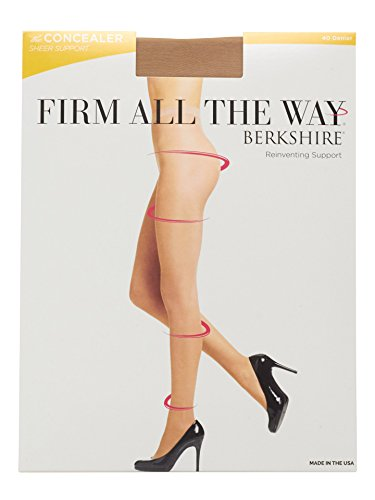 Berkshire Women's Firm All The Way The Concealer Pantyhose 5052, Bisque, - Pantyhose Firm