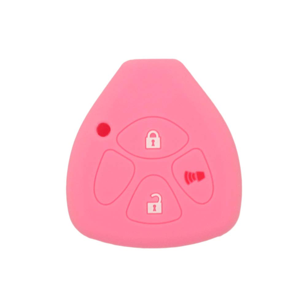 SEGADEN Silicone Cover Protector Case Skin Jacket fit for TOYOTA 3 Button Remote Key Fob CV4421 Deep Purple