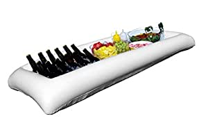 Amazon Com Large White Inflatable Serving Bar Buffet