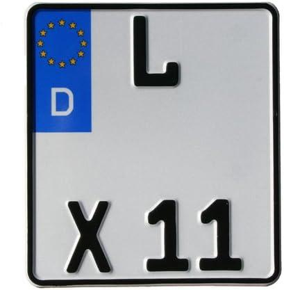 Motorradschilder mit Wunschkennzeichen Motorrad-Kennzeichen EU 200 x 200 mm reflektierend