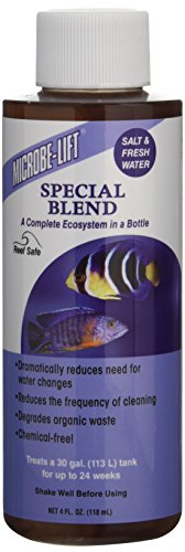 Ecological Labs AEL20448 Microbe Lift Special Blend Aqua Water Conditioners for Aquarium, 4-Ounce (Water Special)