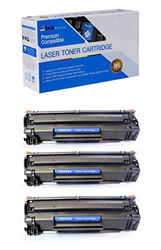 Inksters Compatible Black Toner Cartridge Replacement for HP 35A (CB435A) - Compatible with Laserjet P1002 P1003 P1004 P1005 P1006P1009 (3 Pack)