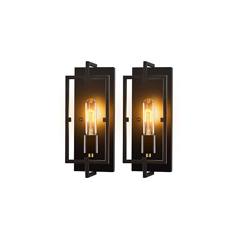 Wall Sconces, Wall Lights Set of 2,Rustic Home Decor Wall Lamp Bathroom Light Fixtures Farmhouse Lighting Industrial…