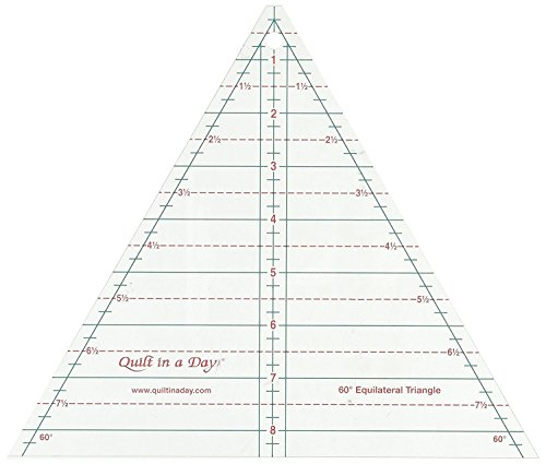 Quilt In A Day 2046 60 Degree Equilateral Triangle Ruler, 8.5'', Clear 2-Pack by Quilt In A Day