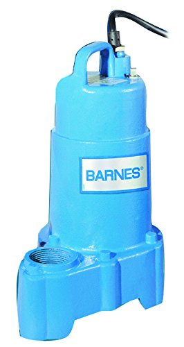 Barnes 112875 Model SP50X Submersible Cast Iron Sump Pump – 1/2 HP, 3,960 GPH, 20' Cord, No Float Switch, For Residential Use