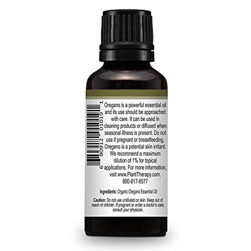Plant Therapy USDA Certified Organic Oregano Essential Oil. 100% Pure, Undiluted, Therapeutic Grade. 30 mL (1 Ounce).