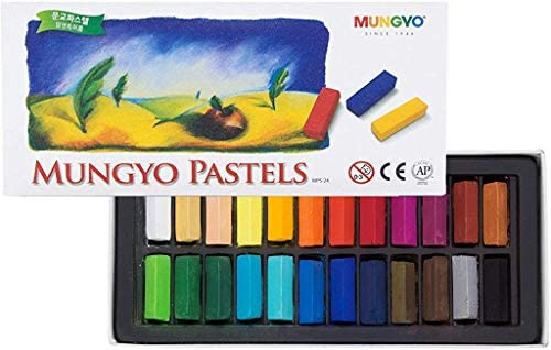 Mungyo Non Toxic Square Chalk Assorted Colors 64 Pack Soft Pastel B441R078-7003A Assorted Colors