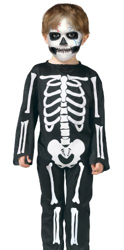 Scary Skeleton Toddler Costume Small 24 Months (Scary Toddler Halloween Costumes)