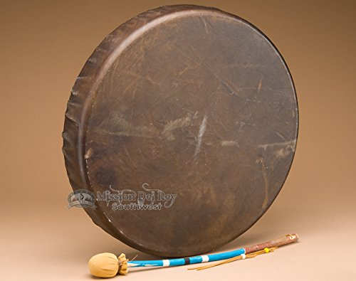 Tohlakai Antler & Buffalo Hide Drum 18'' -Navajo by Mission Del Rey (Image #5)