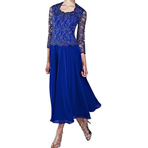 Linie Braut Marie Rock Royal Herrlich Blau Abendkleider 2017 Abschlussballkleider Partykleider Chiffon La A Langes vwS5qwd