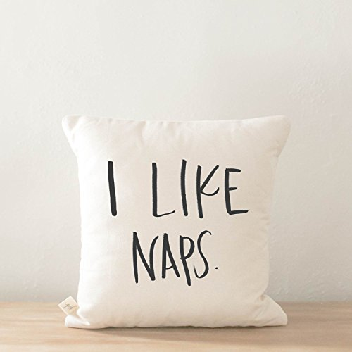 Throw Pillow - I Like Naps, Handmade in the USA, calligraphy, home decor, wedding gift, engagement present, housewarming gift, cushion cover, throw pillow -