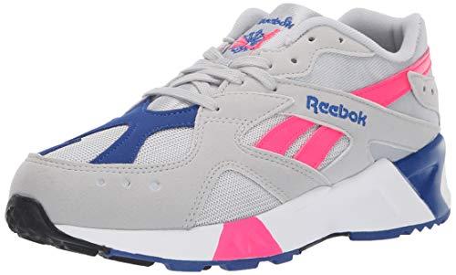Reebok Men's AZTREK Shoes, Skull Grey/Acid Pink/Collegiate Royal/White/Black, 9 M US