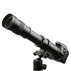Description: High Definition 800mm preset telephoto lens is and incorporates not only computer optical design, but also the latest optical multi-coating techniques. The process of multi-coating assuresvirtually flare free photographs even und...